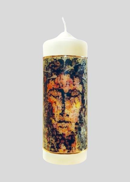 Kerze - Gesicht Christi - Gesichter der Menschen