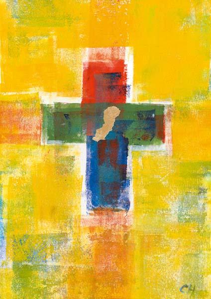 Klappkarte - Glaube voller Farben