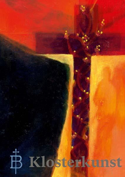 Klappkarte - Das Kreuz bringt Licht und Trost