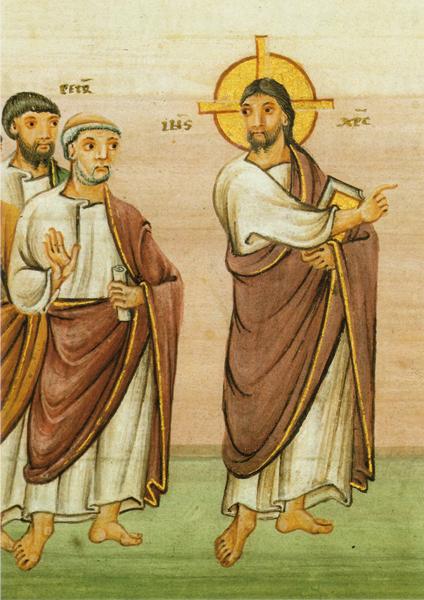 Klappkarte - Christus und Apostel