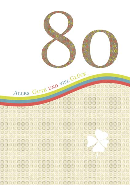 Klappkarte - Runder Geburtstag 80