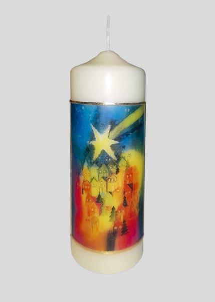 Kerze - Stern über der Stadt