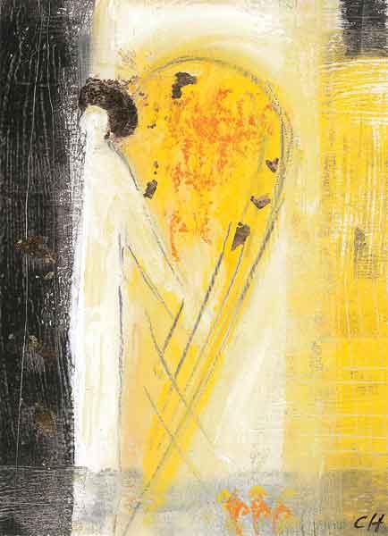 Kunst-Postkarte - Begleitender Engel