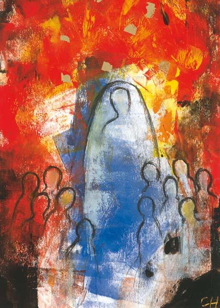 Kunst-Postkarte - Geist schafft Gemeinschaft