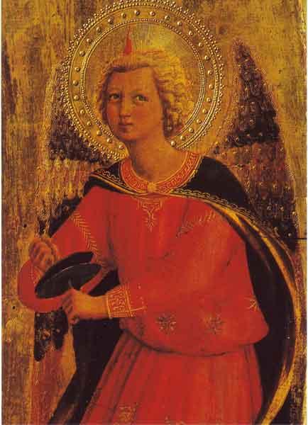 Kunst-Postkarte - Engel mit Becken