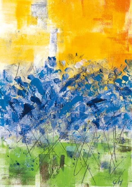 Klappkarte - Ein Meer voll Blumen