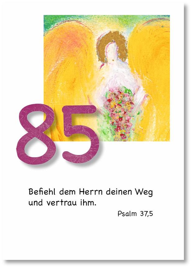 Klappkarte - Runder Geburtstag 85