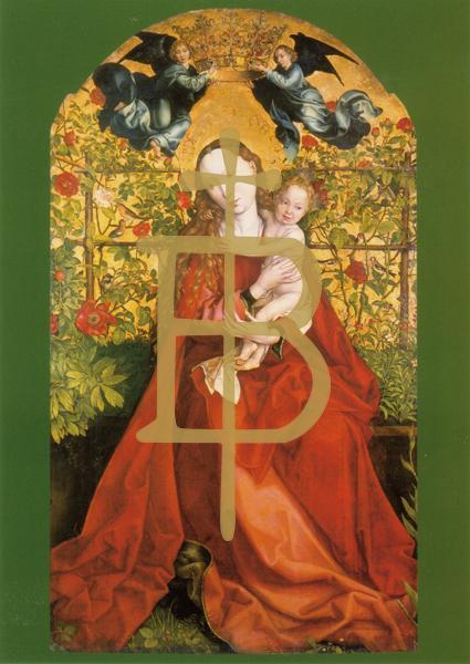 Klappkarte - Maria im Rosenhag