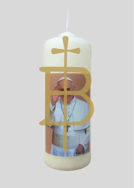 "Kerze - Papst Franziskus ""klein"""