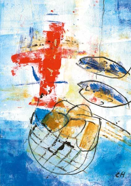 Klappkarte - Gott gebe viel Gnade und Frieden