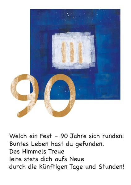 Klappkarte - Runder Geburtstag 90