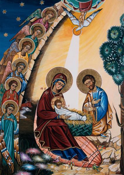 Klappkarte - Geburt Christi
