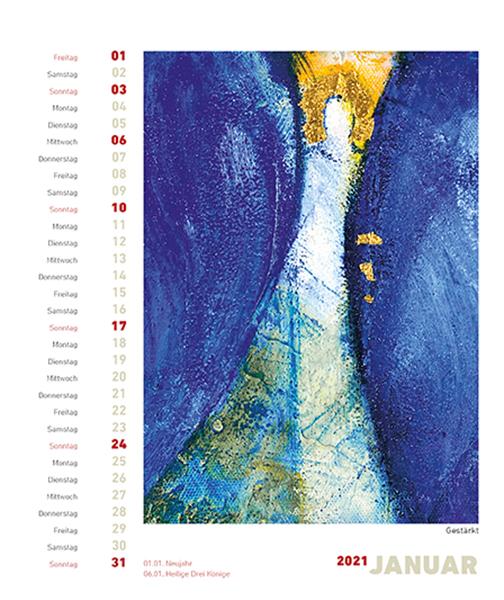 Postkartenkalender - Engel 2021