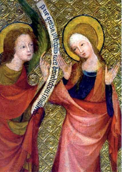 Kunstkarte - Verkündigung an Maria