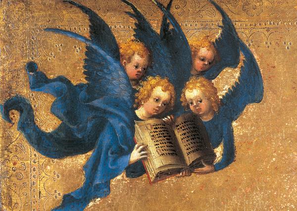 Klappkarte - Engelgruppe
