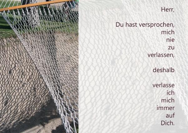 Kunst-Postkarte - Nie verlassen