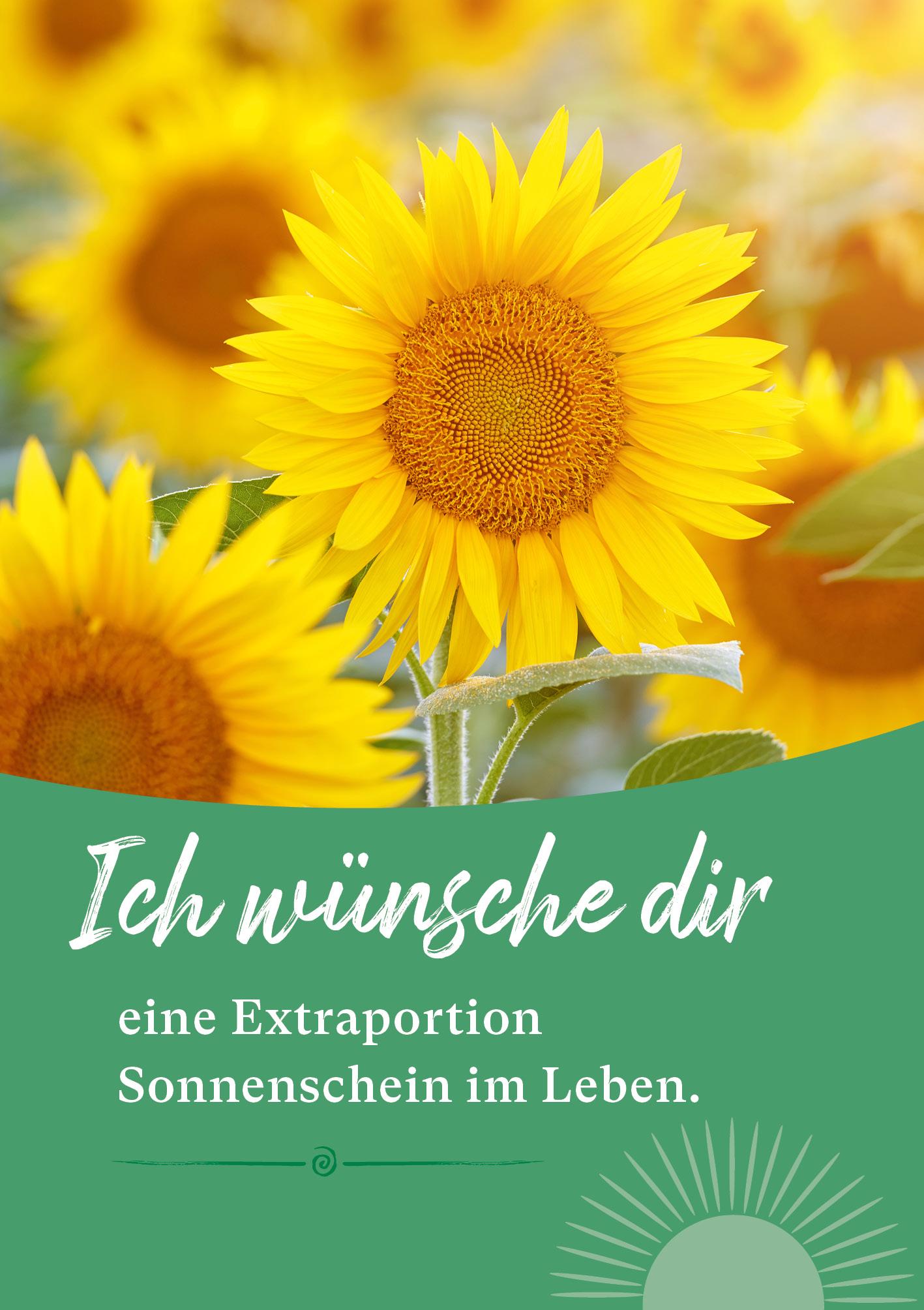 Kunst-Postkarte - Sonnenschein im Leben