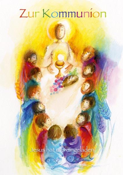 Klappkarte - Jesus hat uns eingeladen