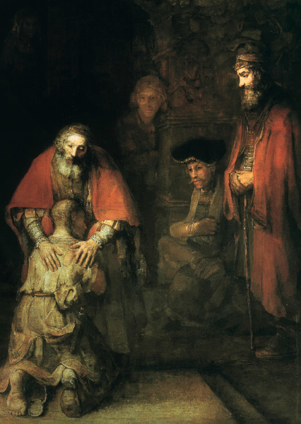 Klappkarte - Die Heimkehr des verlorenen Sohnes
