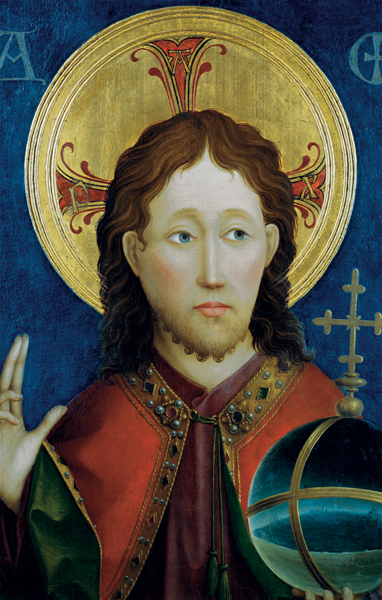 Bildchen - Christus als Salvator Mundi