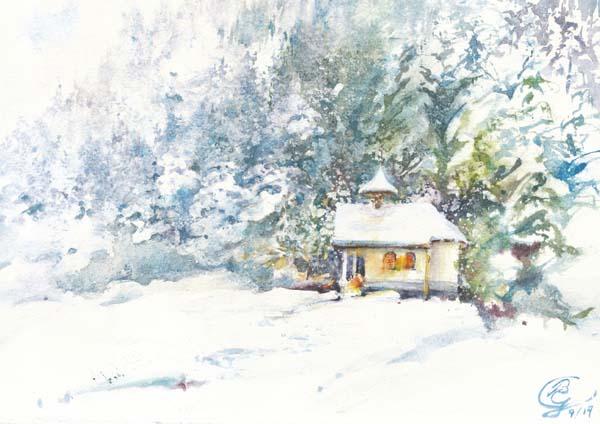 Klappkarte - Wunderweiße Weihnacht