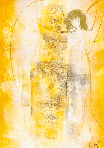 Kunst-Postkarte - Engel der Straße
