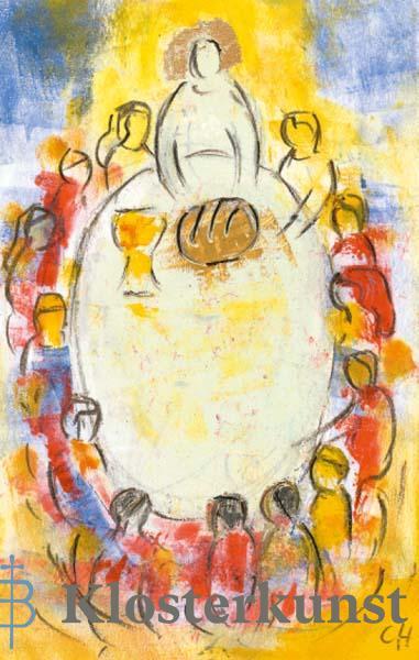 Bildchen - Der Herr segnet Brot und Leben