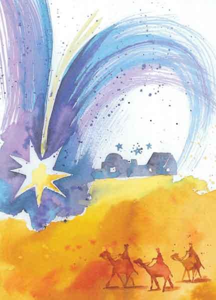 Klappkarte - Auf dem Weg nach Betlehem