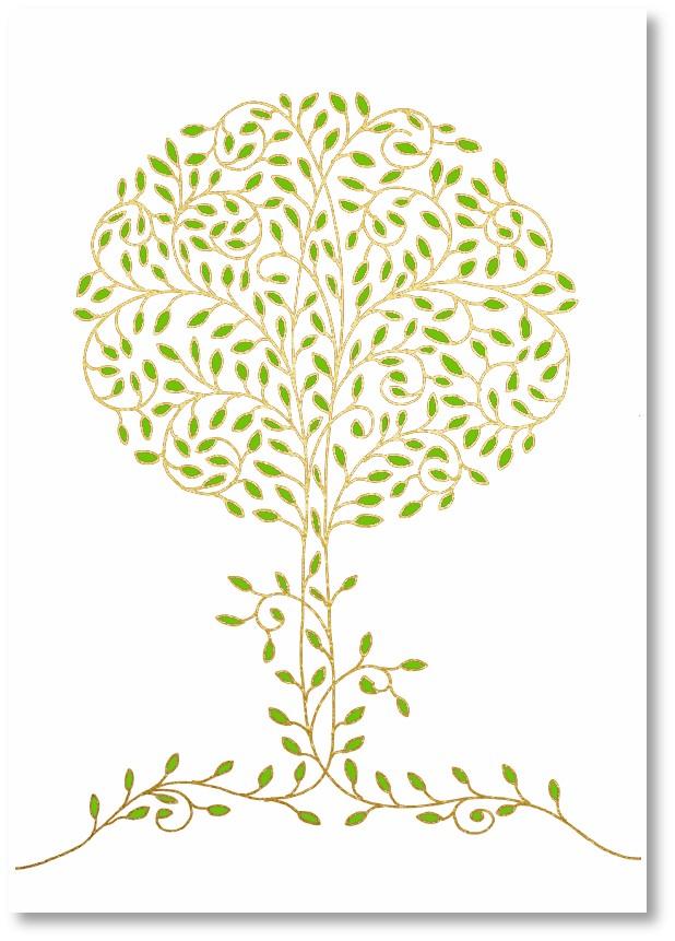 Premium-Klappkarte - Ein Baum gibt Leben