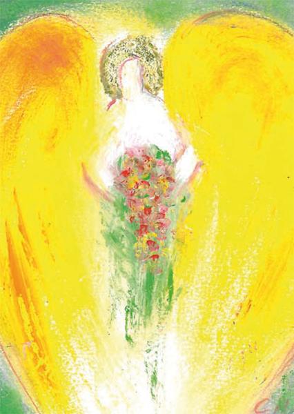 Kunst-Postkarte - Engel der Liebe