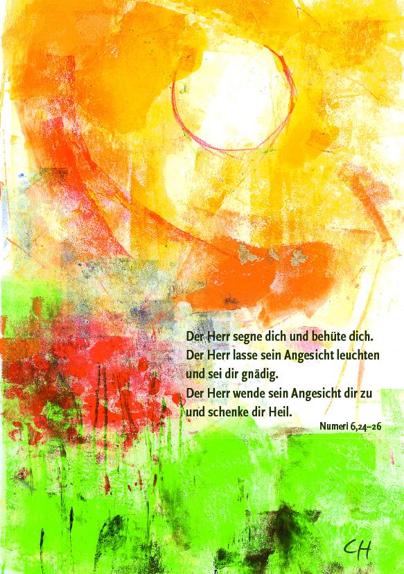 Kunst-Postkarte - Viel Glück und viel Segen