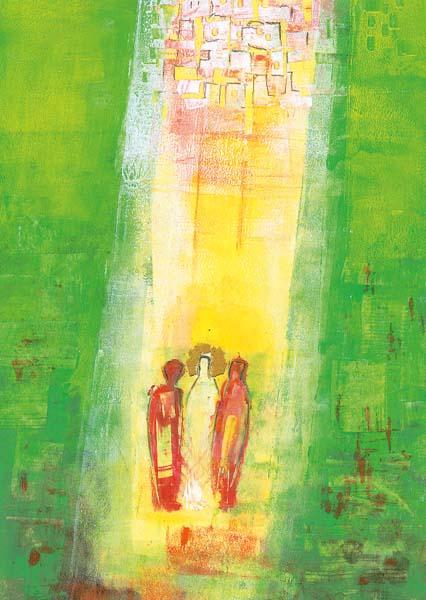 Kunstkarte - Der Weg nach Emmaus