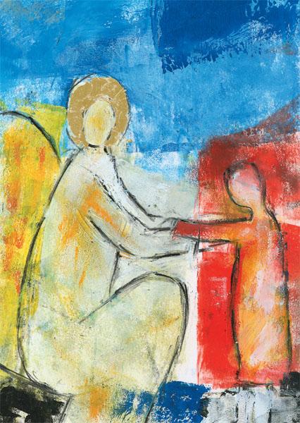 Kunst-Postkarte - Engel der Zuneigung