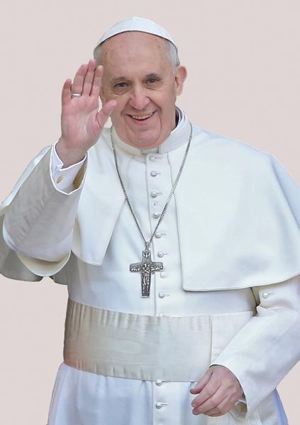 Kunst-Postkarte - Papst Franziskus