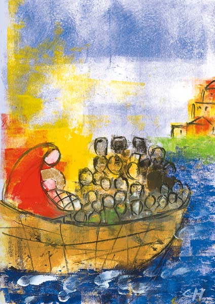 Klappkarte - Gott wird in der Armut Mensch