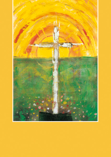 Pfarrbriefmantel - Kreuz im Sonnenaufgang
