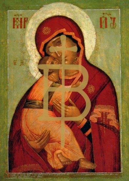 Kunstkarte - Die Wladimir Madonna der Demut