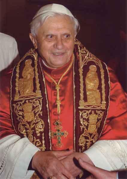 Kunst-Postkarte - Papst Benedikt XVI