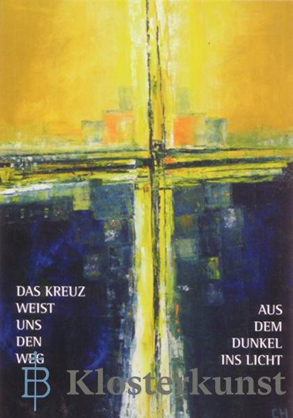 Klappkarte - Das Kreuz weist uns den Weg