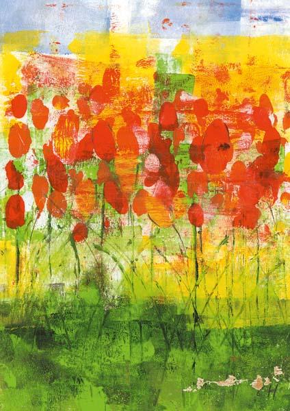 Klappkarte - Blumen bringen Glück