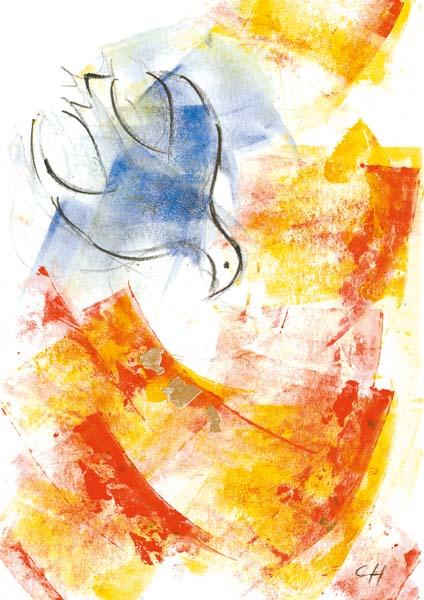 Klappkarte - Der Geist macht frei