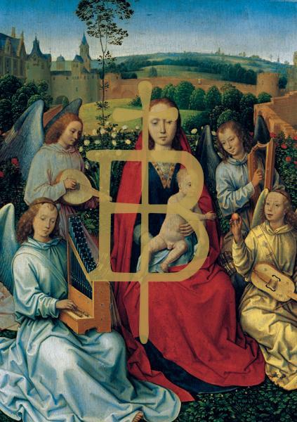 Kunstkarte - Maria im Rosenhag