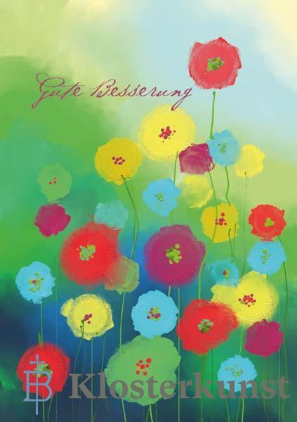 Klappkarte - Blumen, die gut tun