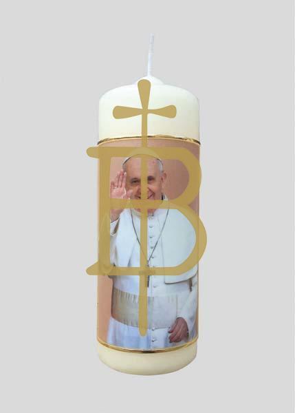 Kerze - Papst Franziskus