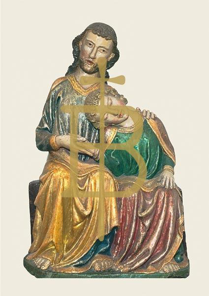 Klappkarte - Christus und Johannes
