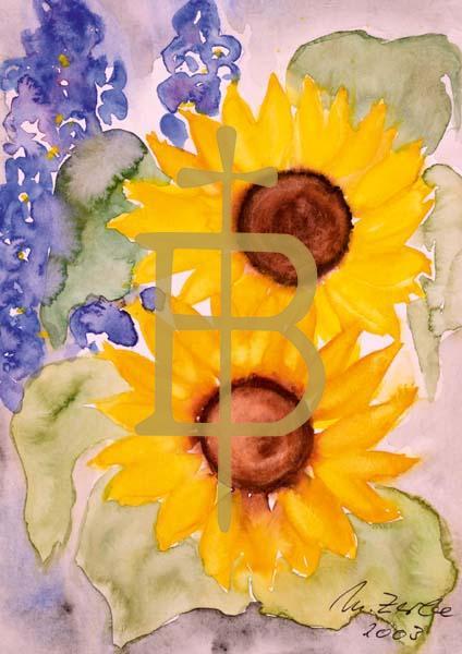 Klappkarte - Blumenfreunde