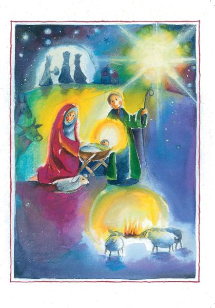 Kartenbox - Glanzvolle Weihnacht