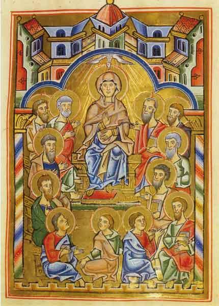 Kunstkarte - Ausgießung des Heiligen Geistes