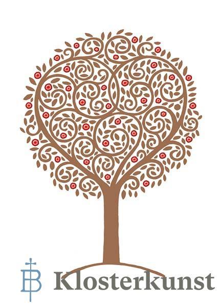 Premium-Klappkarte - Baum des Glücks
