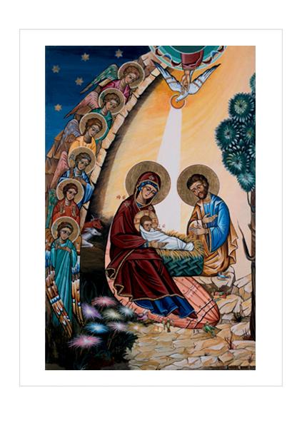 Premium-Klappkarte - Geburt Christi